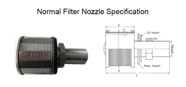 Stainless steel screen tube filter nozzle