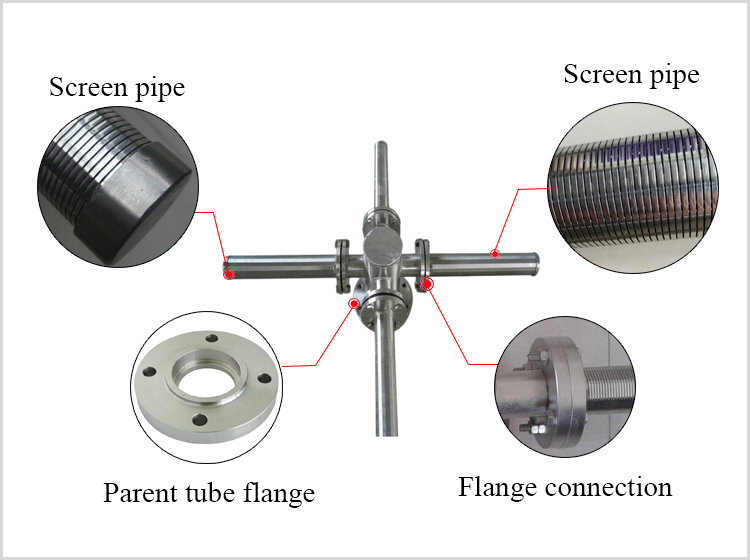 Wedge wire water collector