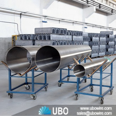 HSM ISO CE SS Wedge Wire Rotary Drum Screen - UBO